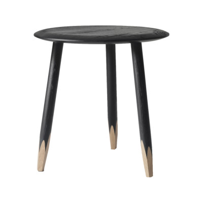 Hoof SW1 Side Table Black lacquered oak