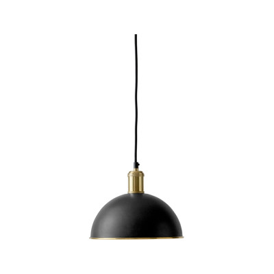 Hubert Pendant Light - Set of 2 Black, Bronzed Brass