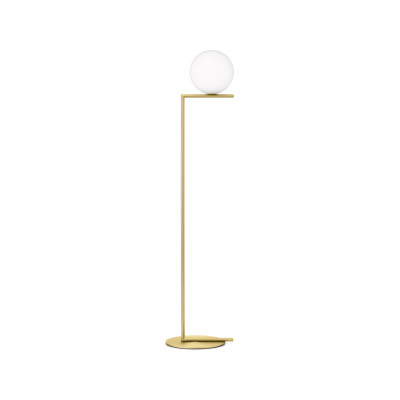 IC Floor Lamp F1, Brushed Brass, Small
