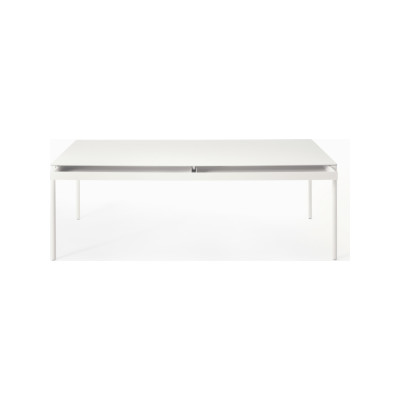 Icaro 015 Table with Drawers - Rectangular B22 Bungee Brown, D84 White Calce, 100 x 180cm