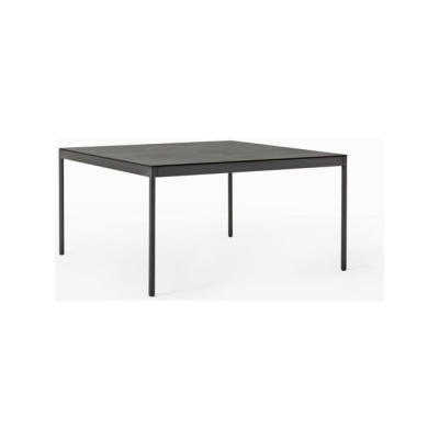 Icaro 015 Table with Drawers - Square B22 Bungee Brown, D84 White Calce