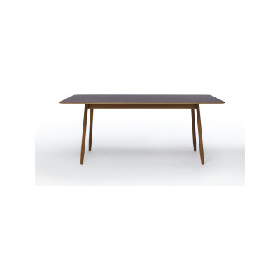 Icha Rectangular Dining Table Mushroom Top & White Oiled Oak Base, 240cm