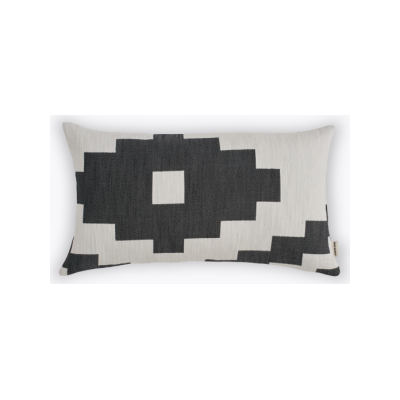 Ikat Rectangular Cushion Black