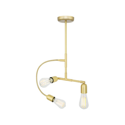 Illinois Bar Pendant Light Satin Brass