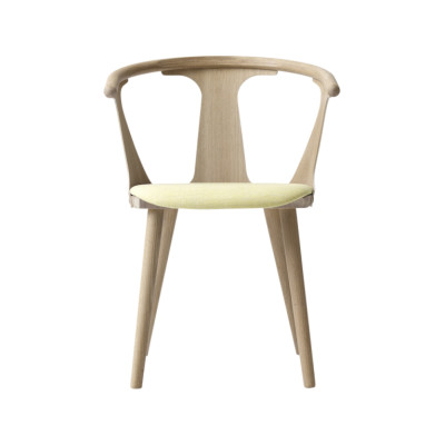 In Between SK2 Dining Chair White oiled oak, Camo Leather Silk 0197 Cream