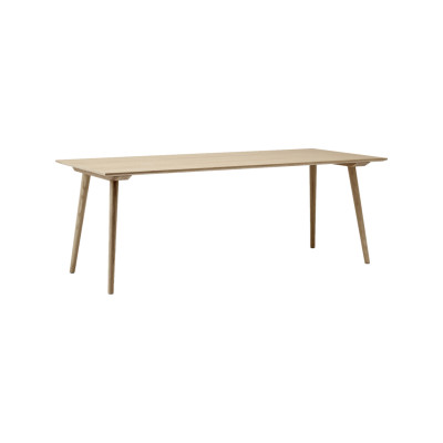 In Between SK5 Dining Table Clear lacquered oak