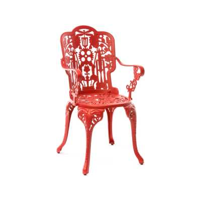 Industry Aluminium Armchair Red