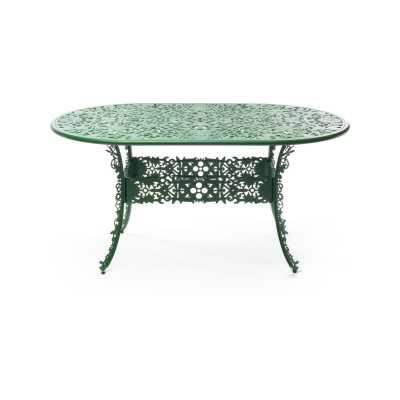 Industry Aluminium Oval Table Green