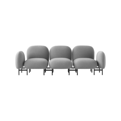 Isole Modular Seating System - 3 Seater Sofa with Armrests Uniform Grass