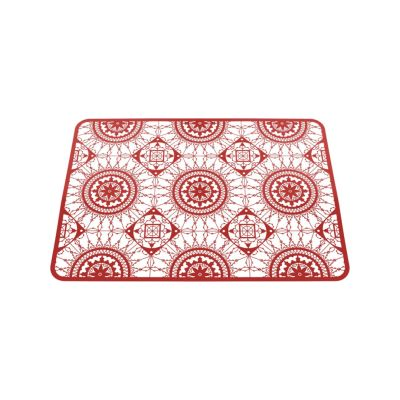 Italic Lace Rectangular Placemat Red