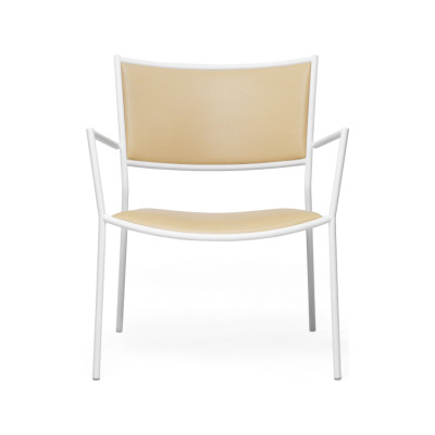 Jig Easy Chair White - RAL 9003, 57004-0000 Lido-Indigo