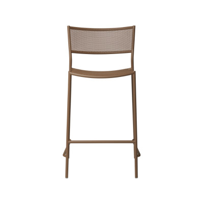 Jig Mesh Bar Stool Pale Brown - RAL 8025, 75cm
