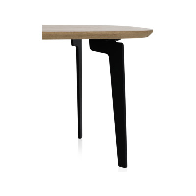 Join Oval Coffee Table Large, Black Lacquered Oak