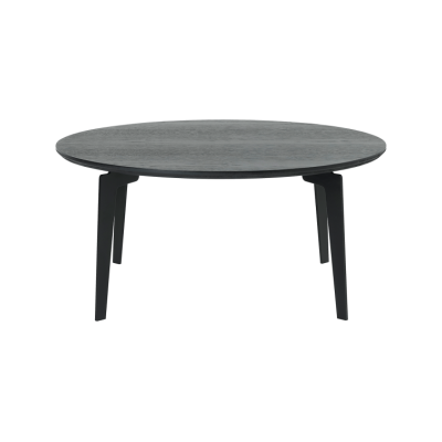 Join Round Coffee Table Clear Lacquered Oak