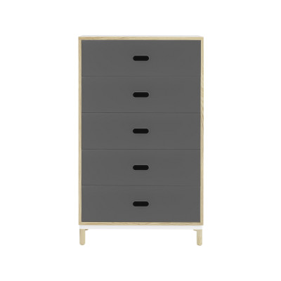 Kabino Dresser with 5 Drawers Grey