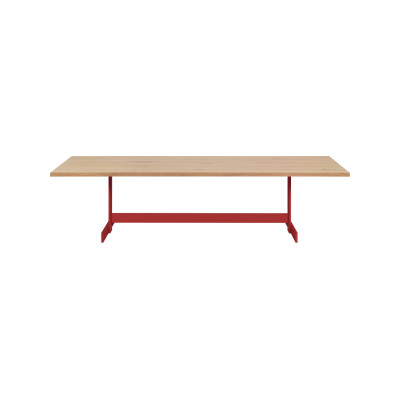 Kazimir Dining Table Brass, White Pigmented, Oak, 360,Brushed Lacquered