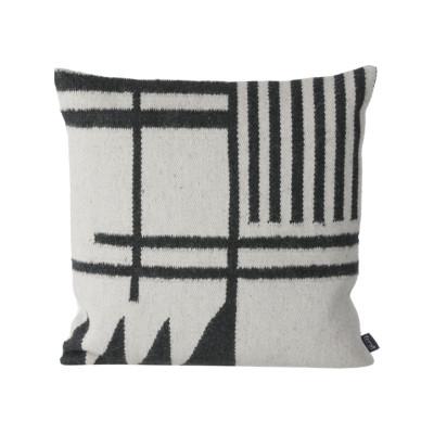 Kelim Cushion, Black Lines - Set of 4