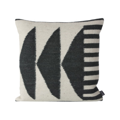 Kelim Cushion, Black Traingles - Set of 4