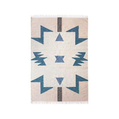 Kelim Rug, Blue Triangles - Large