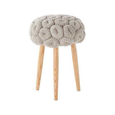 Knitted Stool Grey