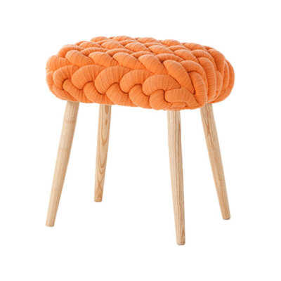 Knitted Stool Orange