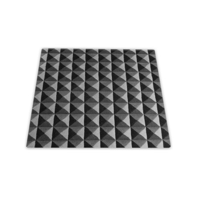 Knurled Square Rug Grey
