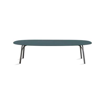Lake 727 Dining Table 130 x 300cm, A03 Chrome, C88 Natural Oak