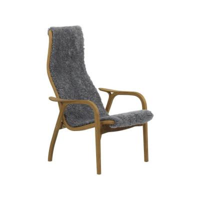 Lamini Child Easy Chair Oak Natural Lacquer, Off-white