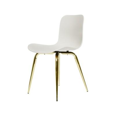Langue Avantgarde Dining Chair, Brass - Plastic Flint Grey