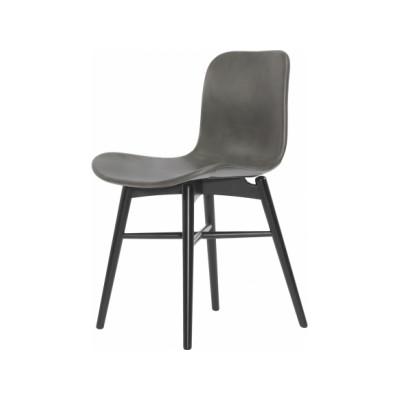 Langue Original Dining Chair, Black - Leather Black Premium Leather