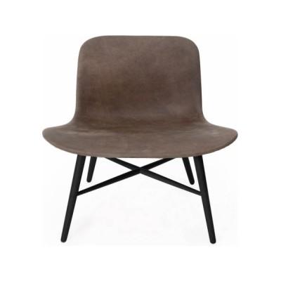 Langue Original Lounge Chair, Leather - Black Anthracite Vintage Leather