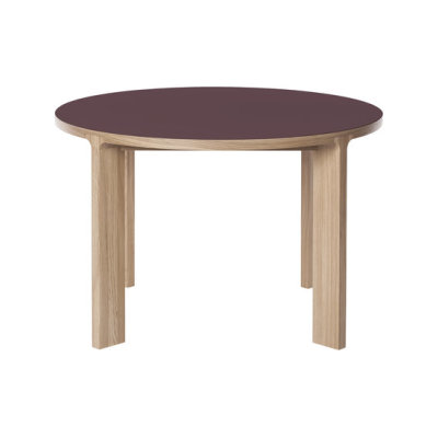 Lastra Round Dining Table Burgundy