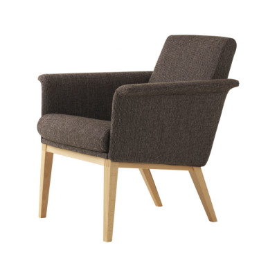 Lazy Easy Chair Low Back Oak Natural Lacquer, Elmo Nordic 00105