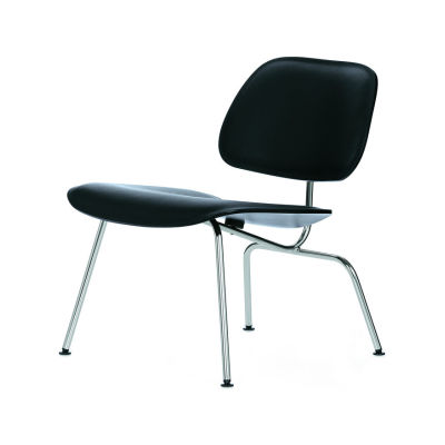 LCM - Lounge Chair Metal Polished Chrome/Plywood Natural Ash, 05 Felt glides for hard floor