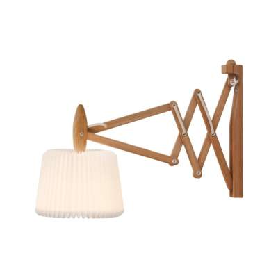 Le Klint 223-120 Wall Light Smoked Oak/Silk White Paper Shade
