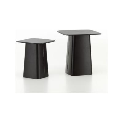 Leather Side Table Chocolate, Medium