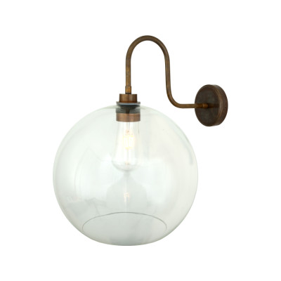 Leith Swan Neck Wall Light Powder Coated White