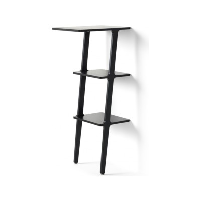 Libri Standing Table Ash Wood Black Lazur