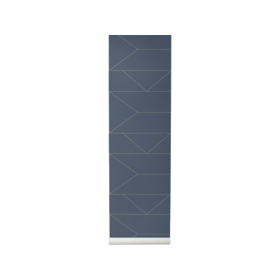 Lines Wallpaper - Set of 2 Rolls Dark Blue
