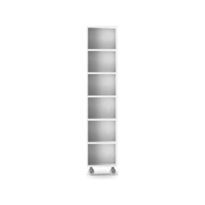 LIT221 Literatura Classic Storage Element on Wheels White Open Pore Lacquered On Oak