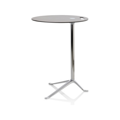 Little Friend Table - Fixed Height Oak, black lacquer