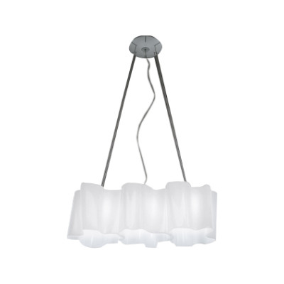 Logico Pendant Light 3 in linea White