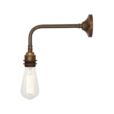 Lome Industrial Wall Light Satin Brass