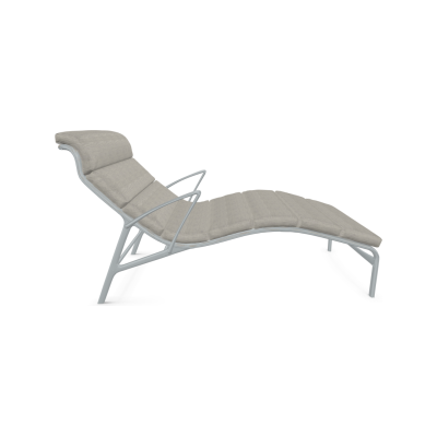 longframe soft 415 Lounge Chair with Arms Cuba, Stove Enamelled Aluminium - A010