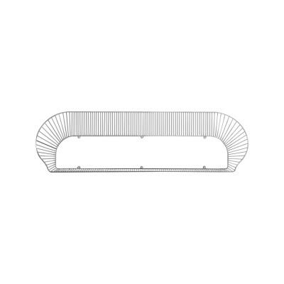 Loop Shelf Black, RAL 9005, 120 cm