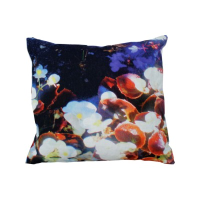 Luminous Lily & Violet Square Cushion Large