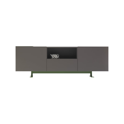 Luxor Cabinet with 2 open partitions, Op 1059, Lx 76 Verde Inglese