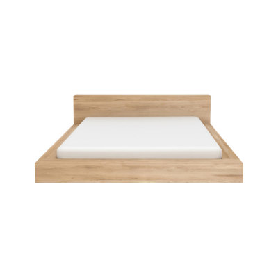 Madra Bed Oak, 218 x 243 x 71 cm - EU King size - mattress size 180 x 200cm, without slats