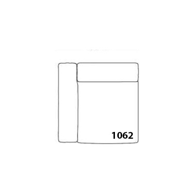 Mags Narrow Modular Seating Element 1062 - Left Canvas 114