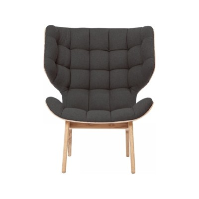 Mammoth Lounge Chair Oak Natural, Wool Coal Grey
